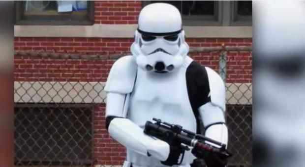 Man arrested for wearing Star Wars Stormtrooper costume outside school